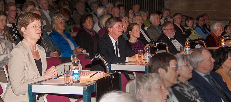 Prof. Dr. Susanne Rode-Breymann, Prof. K.-J. Etzold, C. Otto, Prof. Dr. H. Bäßler, C. Hampe (v. li. n. re.)